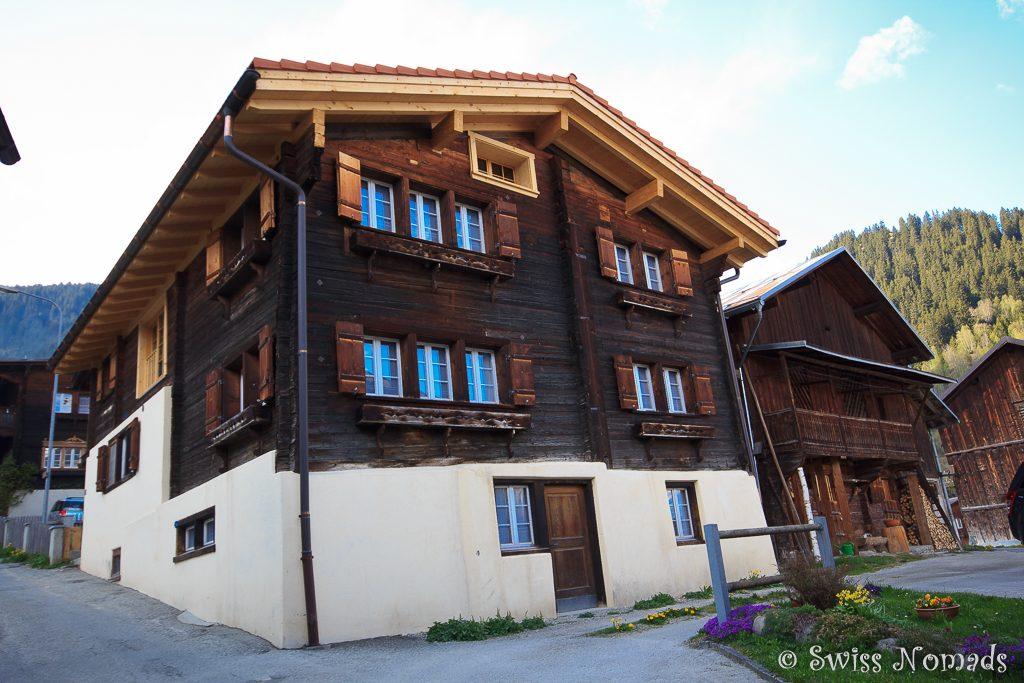Casa Zuela in Segnas bei Disentis/Mustér in der Surselva