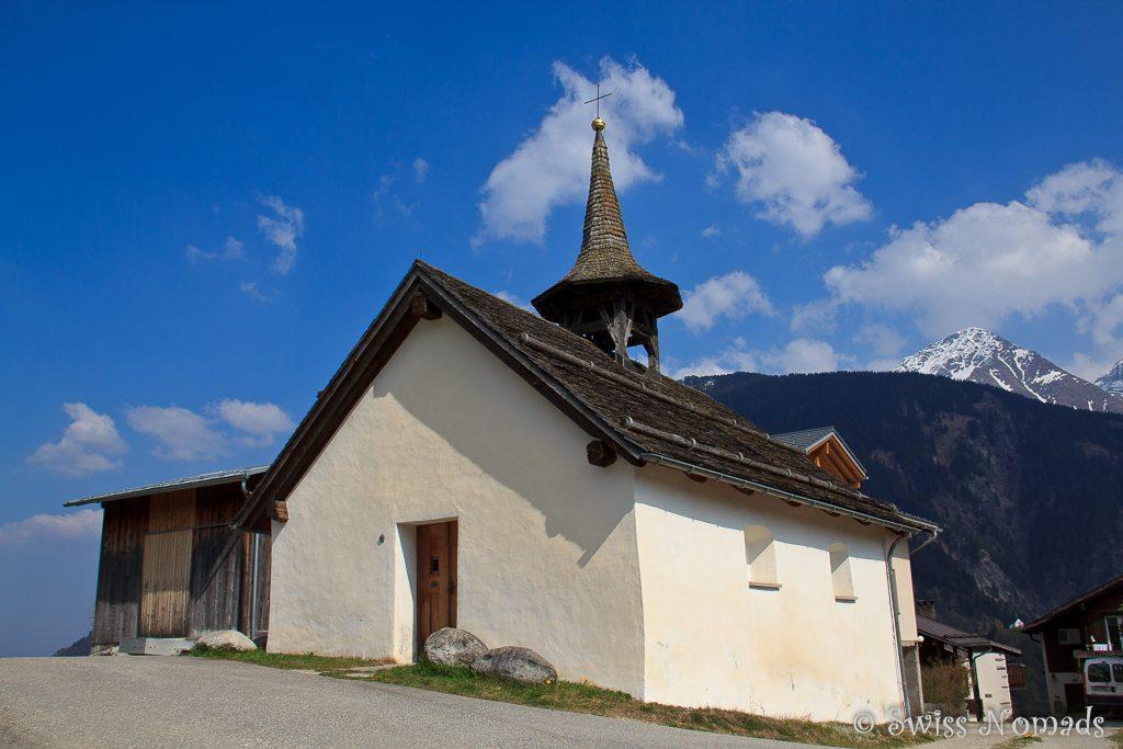 Die Kapelle in Ssegnas bei Disentis/Mustér