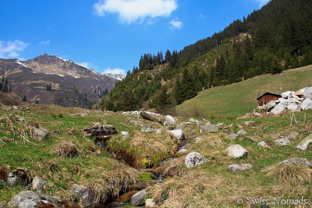Wandern in Segnas bei Disentis