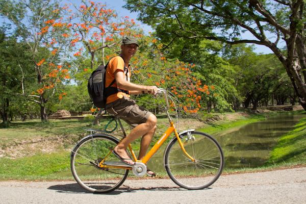 Fahrrad in Sukhothai