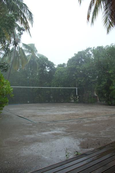 Regen auf den Malediven