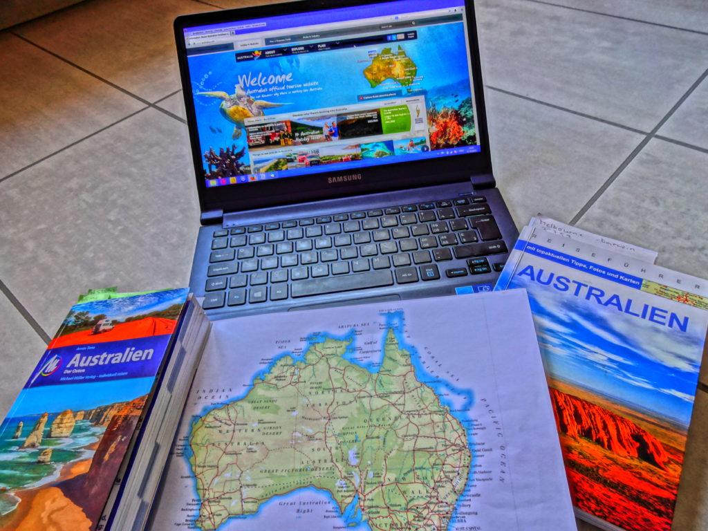 Reiseplanung für Australien