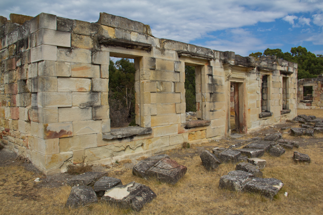 Die historische Strafanstalt der Kohlemine bei Port Arthur
