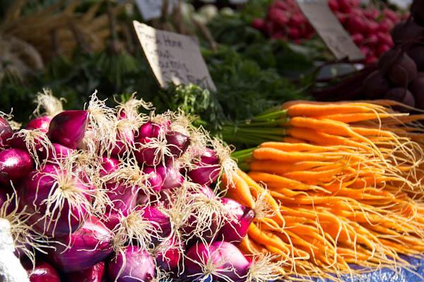 Frisches Gemüse am Salamanca Markt in Hobart