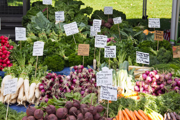 Vielfalt von Gemüse aus Tasmanien