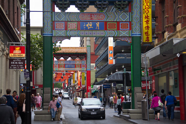 China Town in Melbourne an der Little Bourke Street