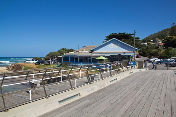 Der Pier und das Restaurant in Lorne an der Great Ocean Road
