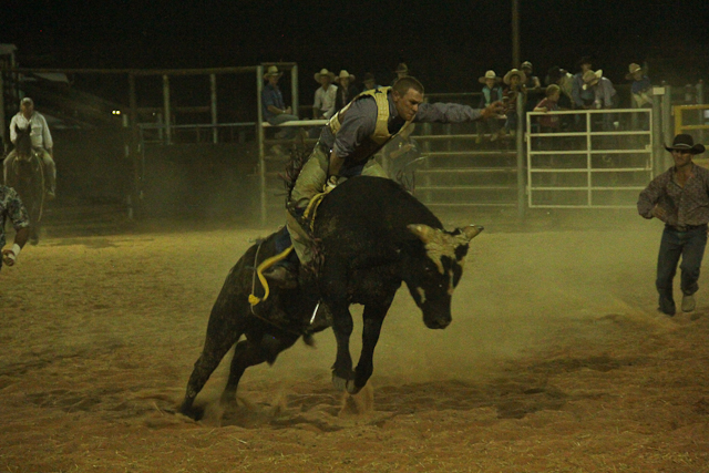Bull ride Birdsville Rodeo