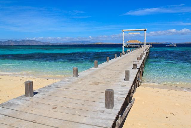 Das glasklare Wasser um die Insel Kanawa