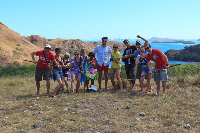Unsere Tauchgruppe auf der Insel Rinca