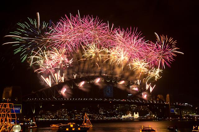 Feuerwerk Silvester in Sydney