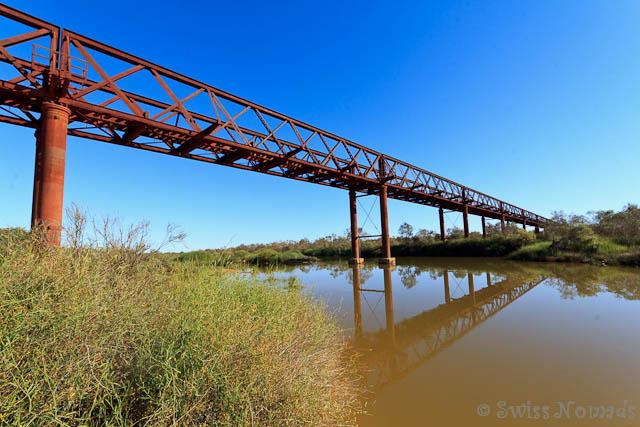 Die Algebuckina Brücke ist die längste Eisenbahnbrücke Südaustraliens