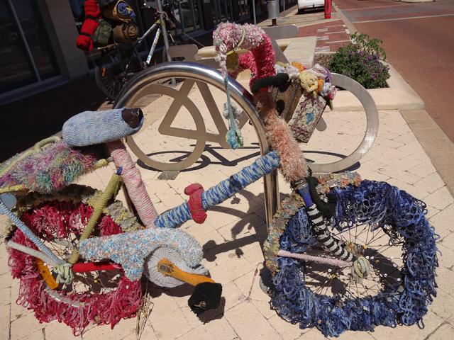 Gestricktes Fahrrad