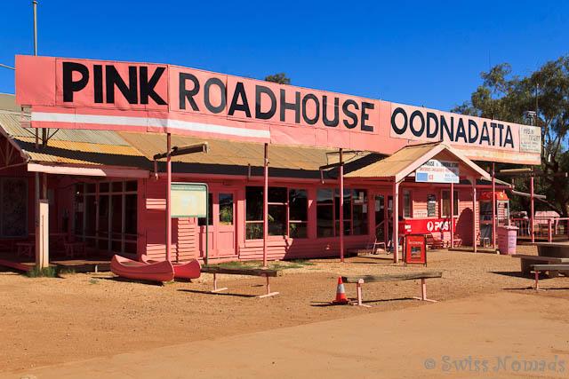 Das Pink Roadhouse von Oodnadatta ist legendär