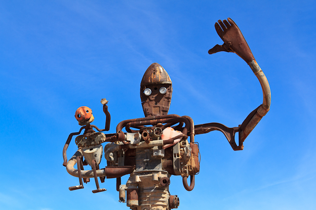 Roboter Skulptur