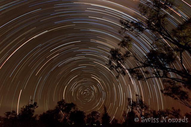 Sternenbahnen mit Rotationsmittelpunkt