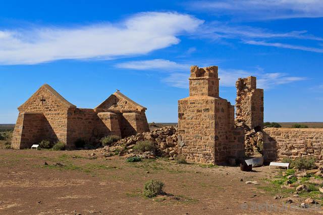 Ruinen erinnern an die Siedlung bei den Strangways Springs