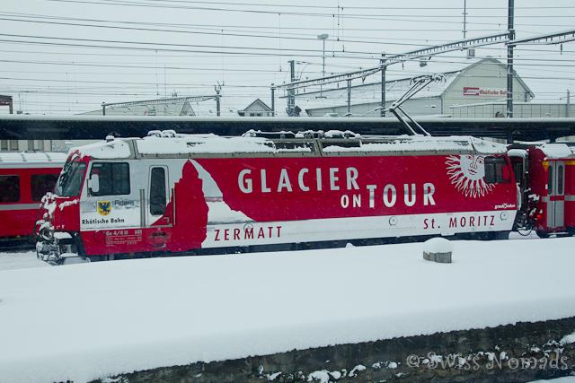 Die Bahnfahrt mit dem Glacier Express von St. Moritz nach Zermatt ist ein Highlight