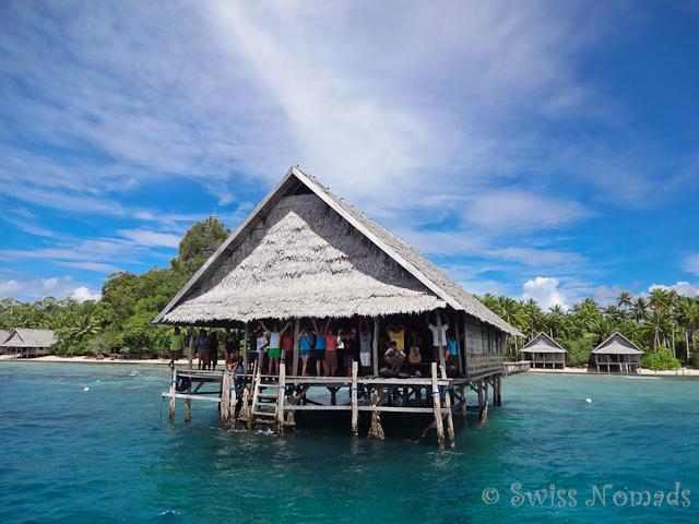 Ankunft Pulau Pef in Raja Ampat