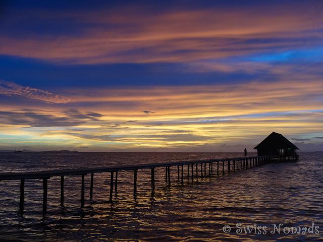 Sonnenuntergang auf Pulau Pef