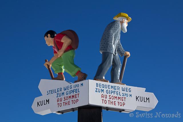 Wegweiser Rigi Kulm