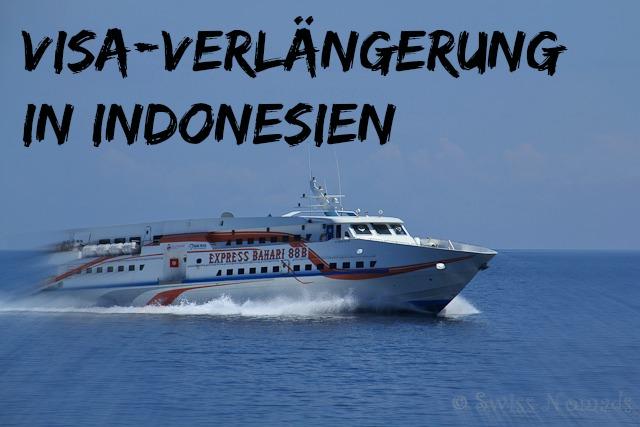 Auf dem Weg zum Verlängern unseres Indonesien Visum
