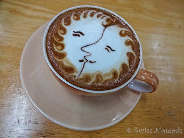 Cappuccino Sonne Mond