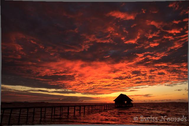 Sonnenuntergang auf Pef