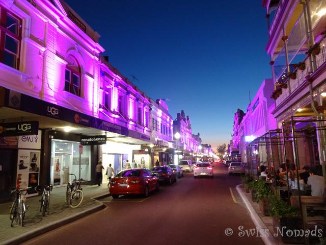 Herrlicher Sommerabend in den Strassen von Fremantle