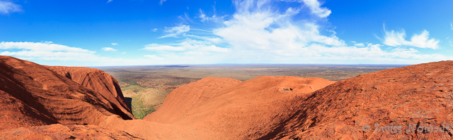 Wunderschöne Aussicht von oben im Outback