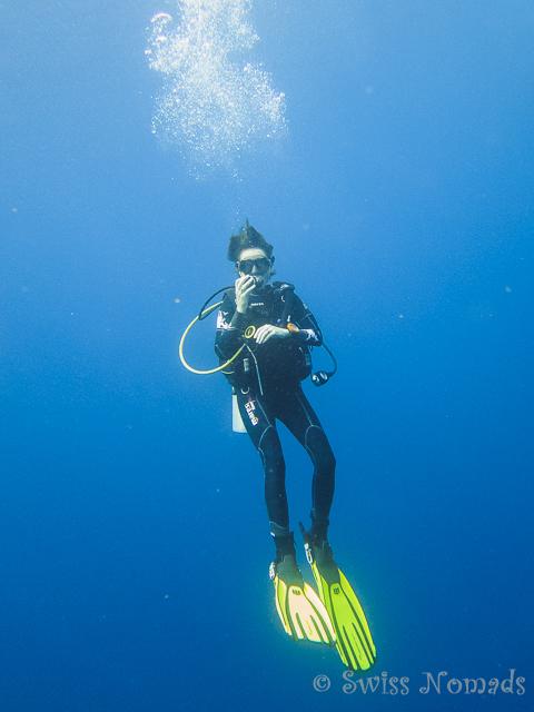 Die Sicht unter Wasser ist ausgezeichnet