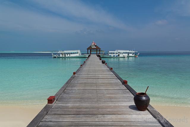 Die Malediveninsel Komandoo
