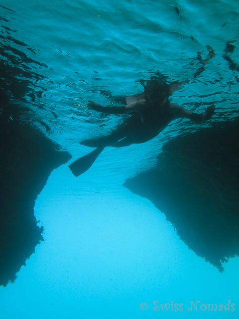 Schnorcheln in die Höhle