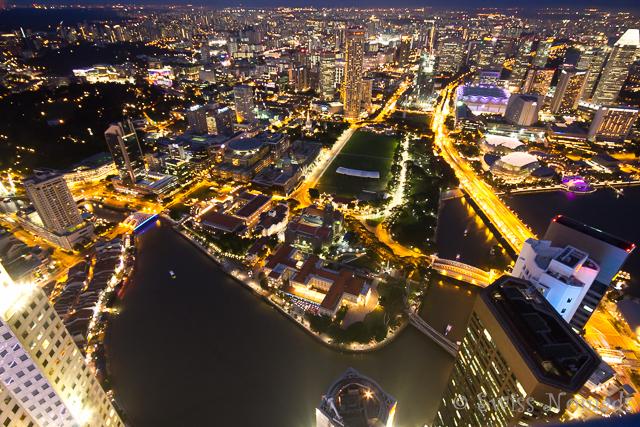 Das Lichtermeer in Singapur