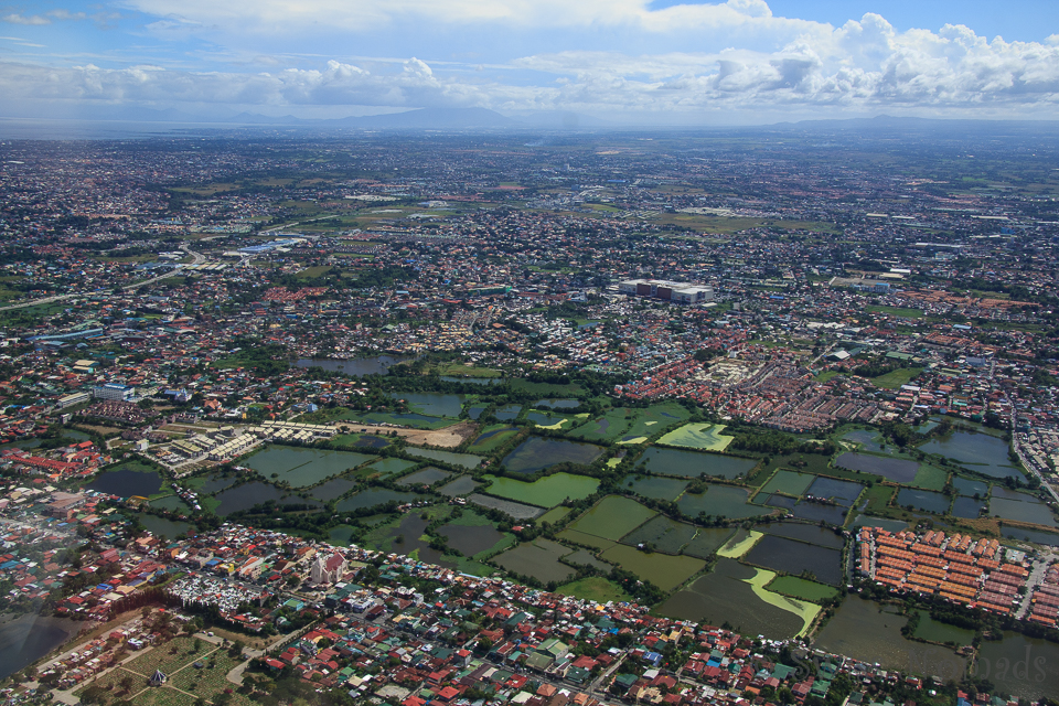 Manila aus der Vogelperspektive