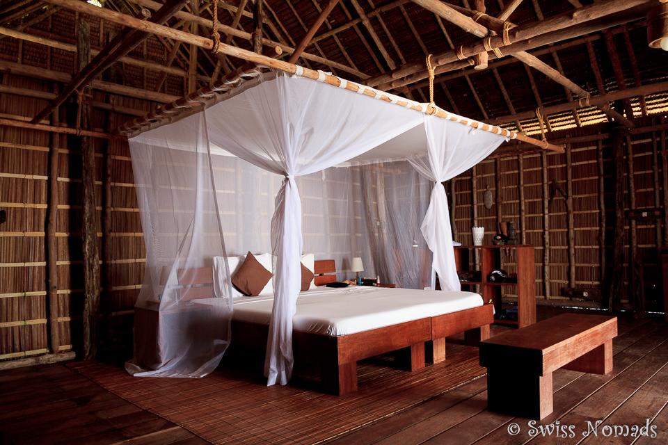 Grosszügige und stilvoll eingerichtete Bungalows auf Pulau Pef