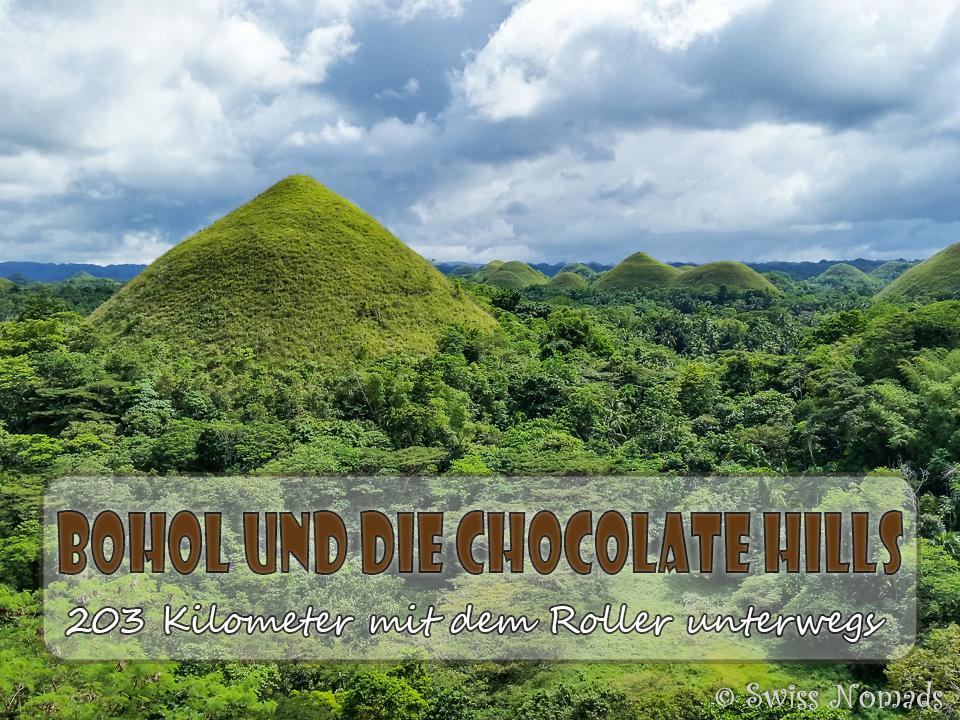 Auf der Bohol Motorradtour besuchen wir die Chocolate Hills