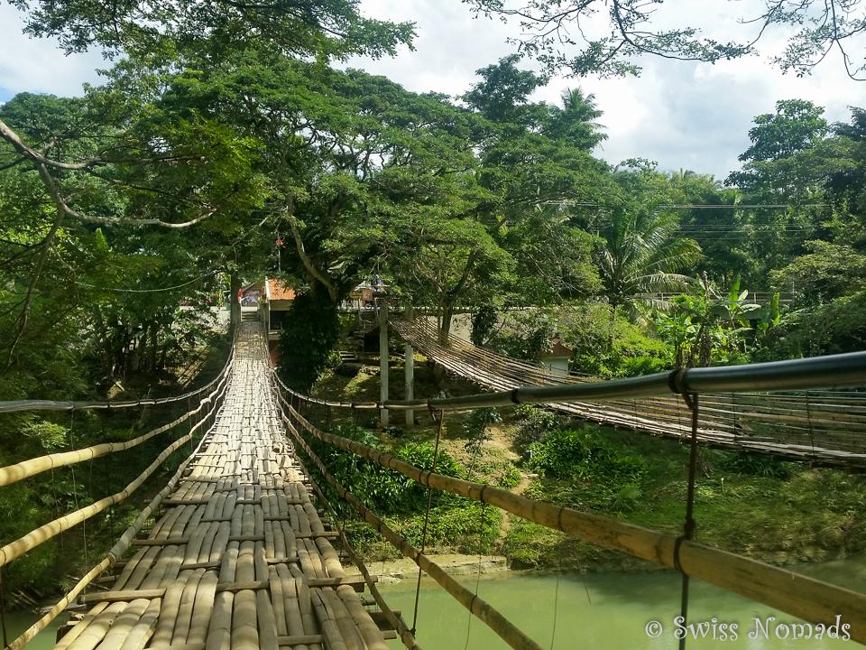 Hängebrücke auf Bohol