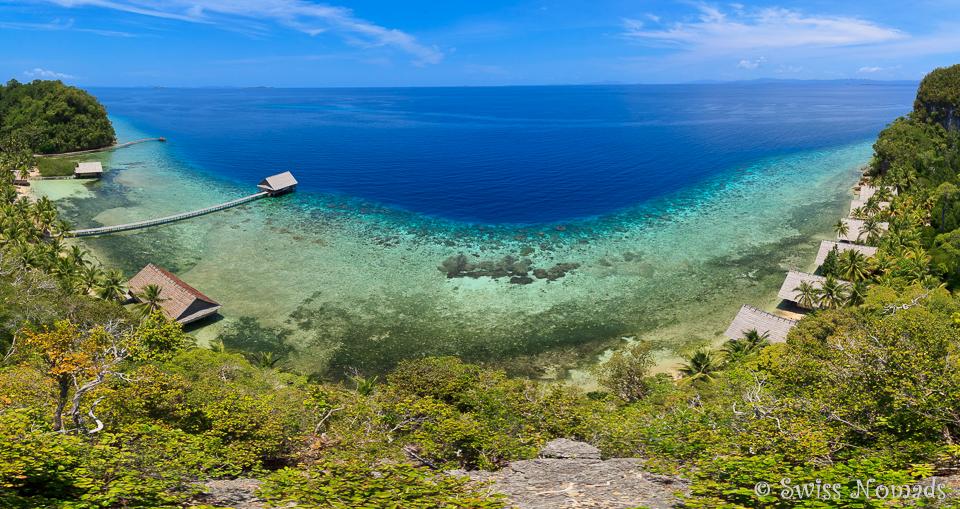 Raja Ampat Bilder mit der Aussicht vom Hausberg von Pulau Pef sind atemberaubend schön