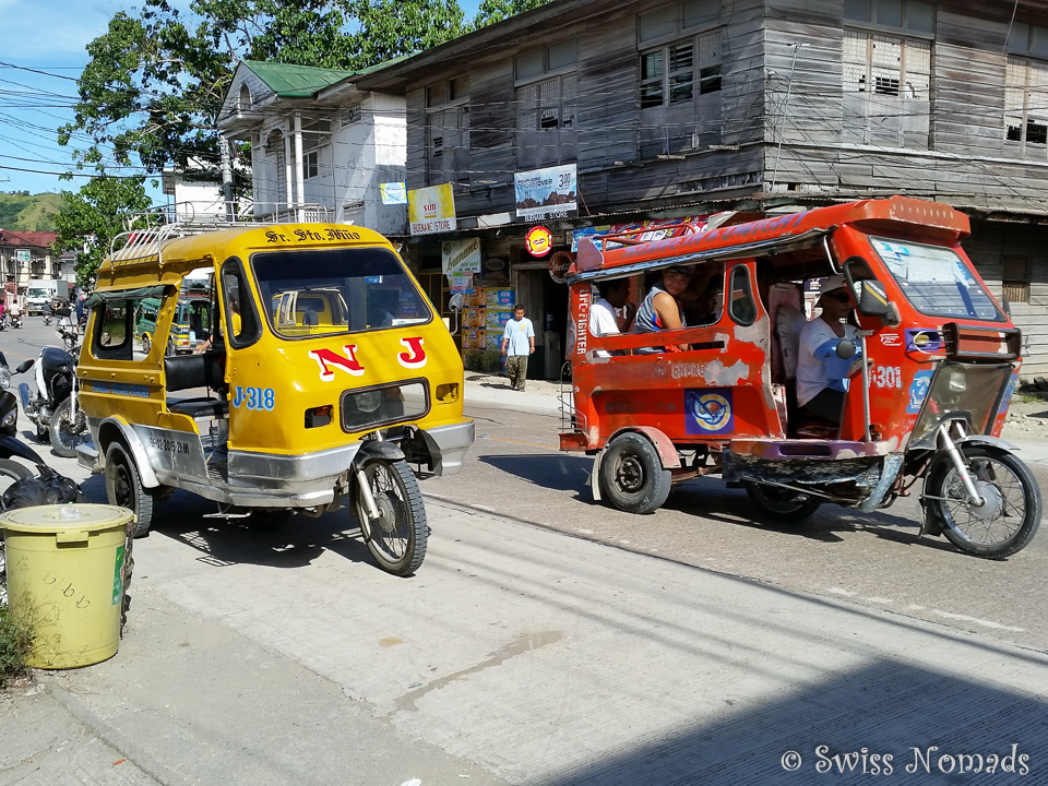 Tricycle in Jagna auf Bohol