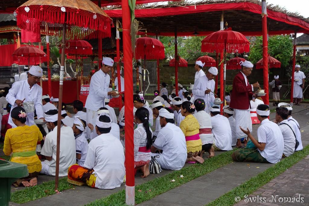 Zeremonie Besakih Tempel