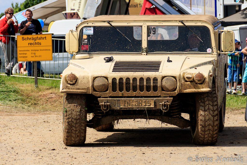 Mit dem Hummer auf der Teststrecke der Abenteuer & Allrad
