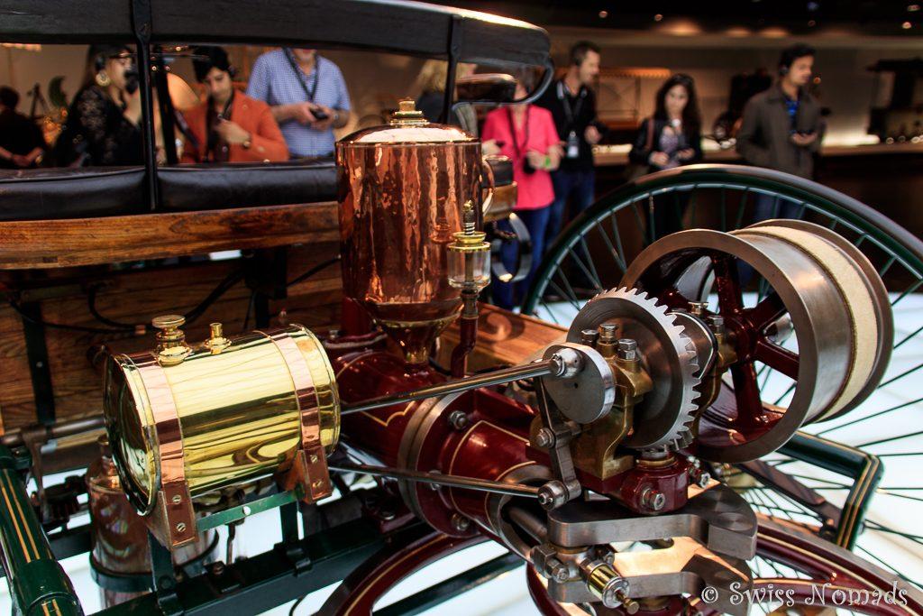 Der Benzinmotor des Benz Patent-Motorwagens