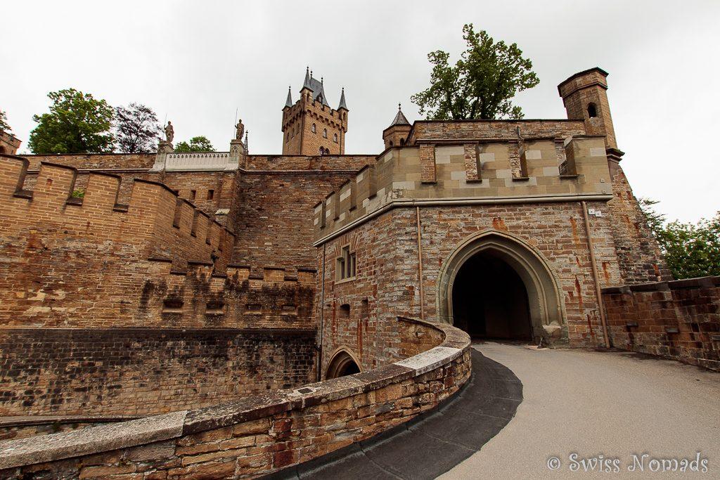 Eingang zur Burg Hohenzollern