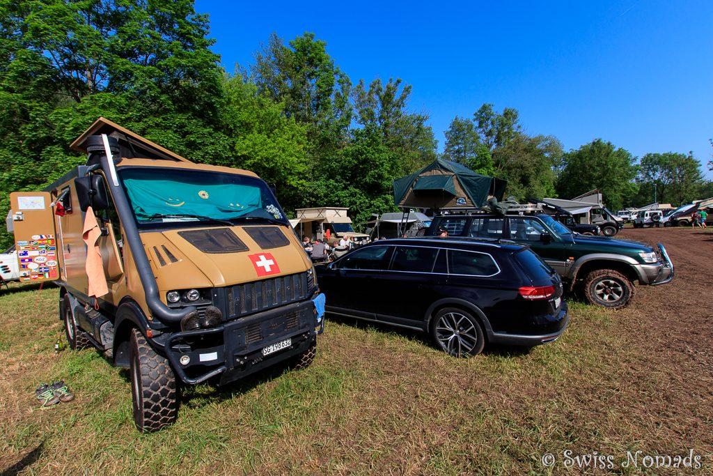 Die Camp-Area der Abenteuer & Allrad in Bad Kissingen