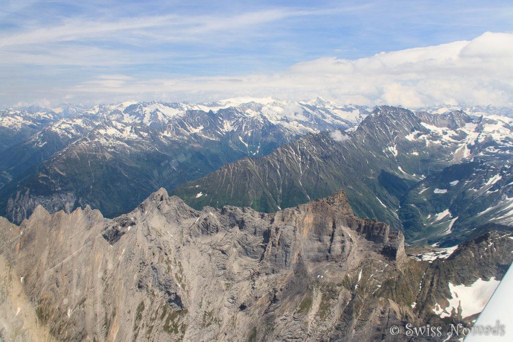 Auf dem Alpenrundflug