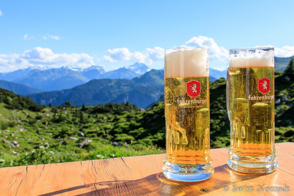 Aussicht von der Freiburger Hütte