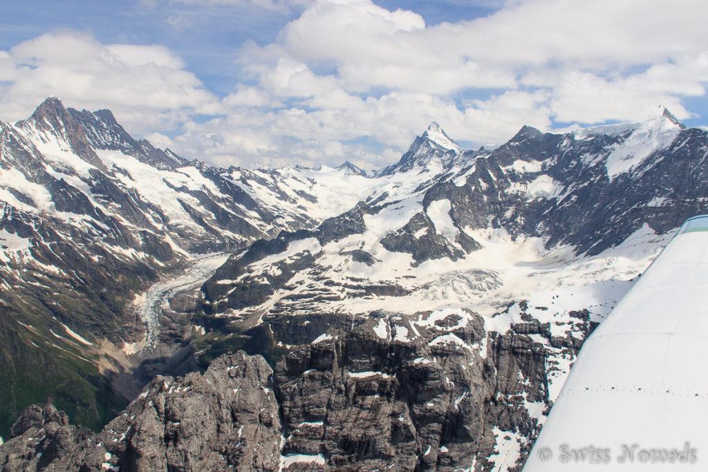 Gletscher Landschaft in den Berner Alpen