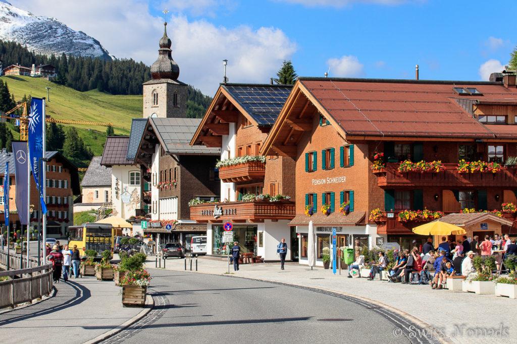 Der schöne Ort Lech am Arlberg