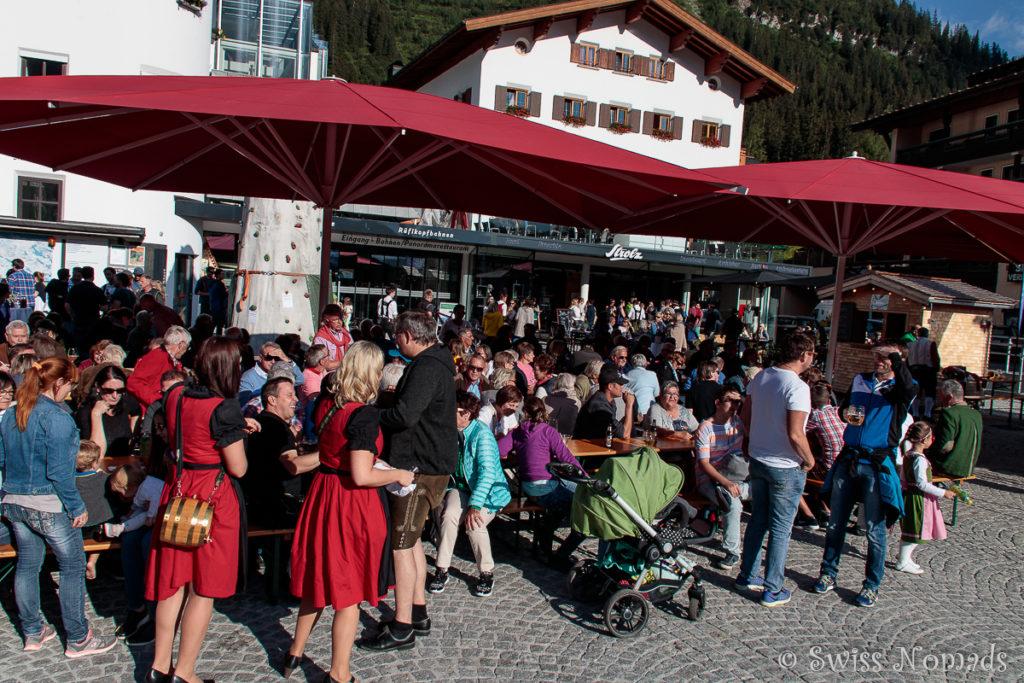 Das Lecher Dorffest auf dem Rüfikopfplatz